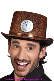Hoge hoed koper glitter