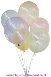 "Bubble Ballon 12"" assorti kleuren [50]"