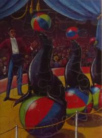 Houten puzzel Circus ZEELEEUWEN