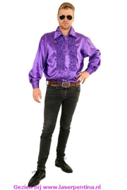 Ruches Blouse paars
