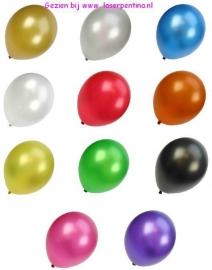 Effen Metallic Ballonnen  ass.
