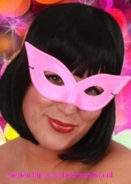 Oogmasker Vlinder pink