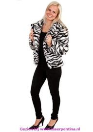 Bontjas Zebra Dames