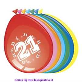 Cijfer opdruk Ballon '21'