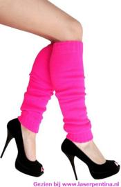 Beenwarmers effen pink