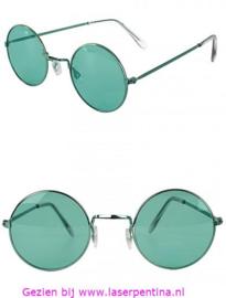 Uilebril groen glas