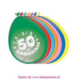 CIjfer opdruk Ballon '50' ABRAHAM