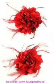 Bloem met Veertjes rood