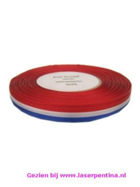 Medaille Lint rd/wt/blw , 10 mm breed