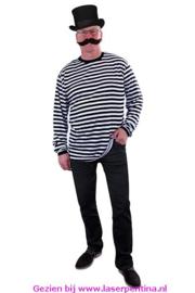 T-Shirt Dorus zwart/wit