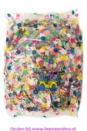 Confetti kantig bont zakje