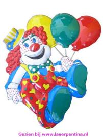 Wand Deco 3D Clown + Ballons