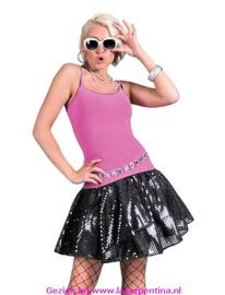 Disco Rok Pailetten zwart