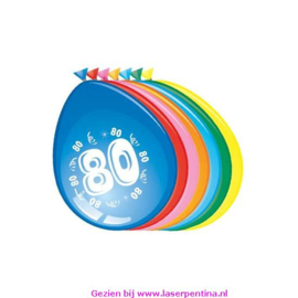 Cijfer opdruk Ballon '80'