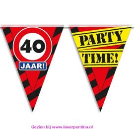 Vlaggenlijn 40 jaar PARTYTIME