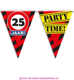 Vlaggenlijn 25 jaar PARTYTIME