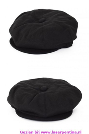 Boerenpet zwart  wol