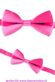 Vlinderstrik effen pink