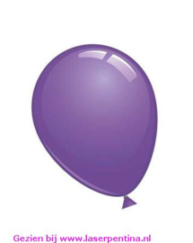 "Effen kleur kristal ballon violet 12"""