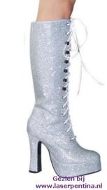 Laarzen glitterzilver Dames