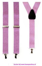 Bretel lila + Glitter