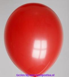 "Effen kleur Ballon decoratie  diep rood 12"" [100]"