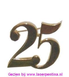 Steekpin 25 goud