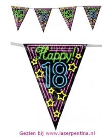 Vlaggenlijn Neon Happy '18'