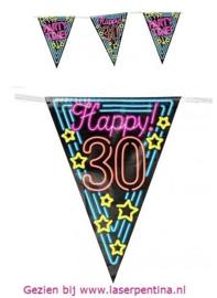 Vlaggenlijn Neon Happy '30'
