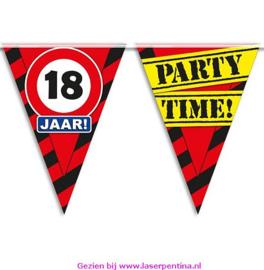 Vlaggenlijn 18 jaar PARTYTIME