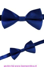 Vlinderstrik satijn blauw