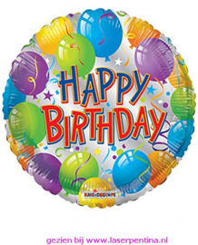 Folie ballon  'HAPPY BIRTHDAY'