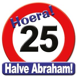 Verkeersbord halve Abraham