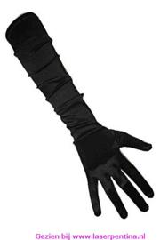 Handschoenen satijn stretch zwart