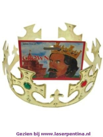 Koningskroon verstelbaar goud