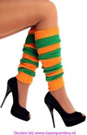 Beenwarmers oranje/groen