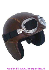 Helm Fun leatherlook