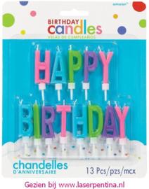 Letter Kaarsjes Happy Birthday