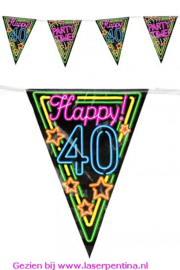 Vlaggenlijn Neon Happy '40'