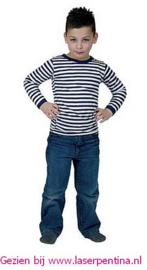 T-Shirt Dorus blauw/wit