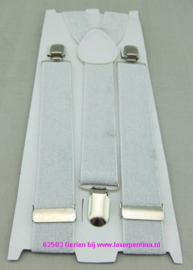 Bretel lurex zilver light