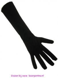 Handschoenen stretch zwart nylon