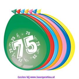 Cijfer opdruk Ballon '75'