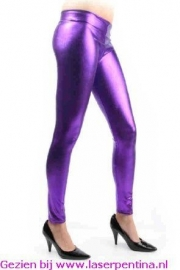 Legging metallic paars