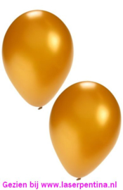 """Effen Ballon goud 12"""" [100]"""