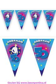 Vlaggenlijn Abraham blauw