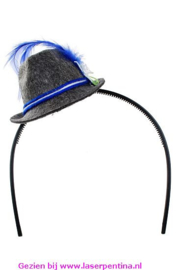 Mini Tiroler Hoedje blauw