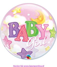 Folie Bubble Ballon  Ø 56 cm Girl