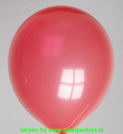 "Effen kleur Ballon pastel rood 12"""