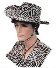 Cowboyhoed Zebra Print